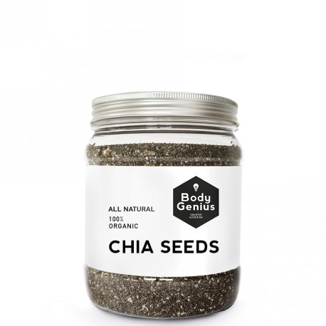 BODY GENIUS Chia Seeds. All Natural. 100% Organic. Semillas de Chia ECO