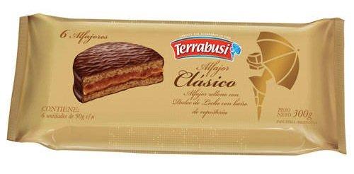 Alfajores Terrabusi (Chocolate Relleno con Dulce de Leche, 300 gr.)