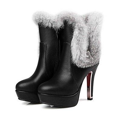 2 Blanco Botas Polipiel Redonda Invierno Botines Botas Rojo 4 Puntera CN33 Negro Chunky Mujer Para Casual Talón EU34 Botines Zapatos De Vestimenta 5 5 US4 RTRY Moda UK2 q4fTfx