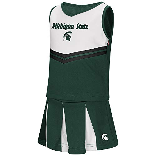(Colosseum Toddler Michigan State Spartans Girls Green Pom Pom Cheer Set)