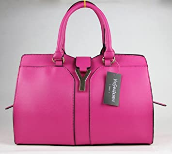 981d12ab1bee Amazon.com   YSL Yves Saint Laurent Cabas Chyc Mini Hot Pink Leather Crossbody  Tote Bag   Cosmetic Tote Bags   Beauty