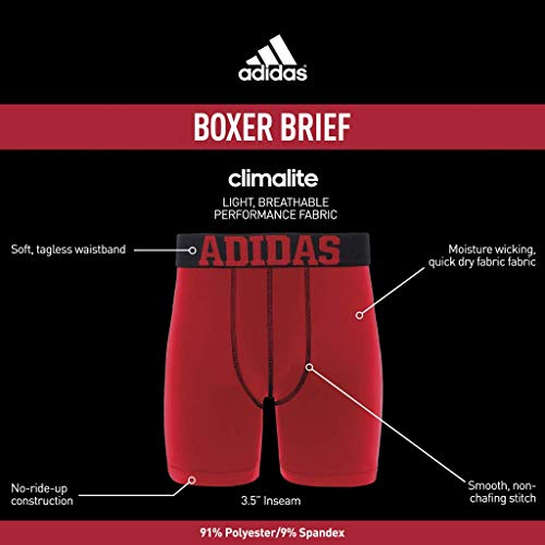 adidas Boys   Youth Sport Performance Climalite Midway Long Boxer Brief  Underwear (2-Pack ff5fbee068