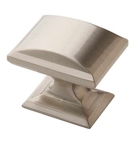 - Amerock BP29340-G10 Candler Collection Rectangular Knob, Satin Nickel