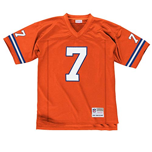 Mitchell & Ness John Elway Denver Broncos Orange Throwback Jersey X-Large -