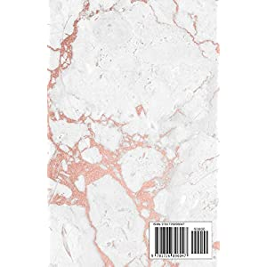 Notebook: Marble and Rose Gold with Rose Gold Title Block | 5.5 x 8.5 – A5 Size (Trendy Marble and Gold)