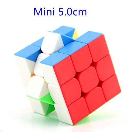 CuberSpeed Moyu MoFang JiaoShi mini 3x3 stickerless bright 5.0cm 3x3x3 Magic cube Cubing Classroom Mini 3X3 color Speed cube