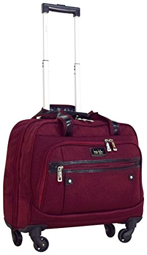 Nicole Miller New York Taylor Carry On Spinner Briefcase (Burgundy) by Nicole Miller New York