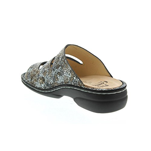 555222 Women's Mules Comfort 82564 Finn braun Kombi Oro nPEAS