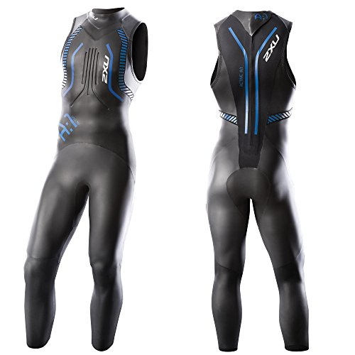 2XU Men's A:1 Active Sleeveless Wetsuit, Small/Medium, Black/Cobalt Blue by 2XU (Image #6)