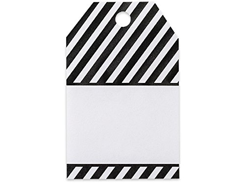 Black Stripes Printed Gift Tags2-1/4 inch x 3-1/2 inch