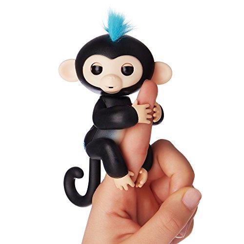 Fingerlings - Interactive Baby Monkey - Finn (Black with Blue Hair) By WowWee JungleDealsBlog.com