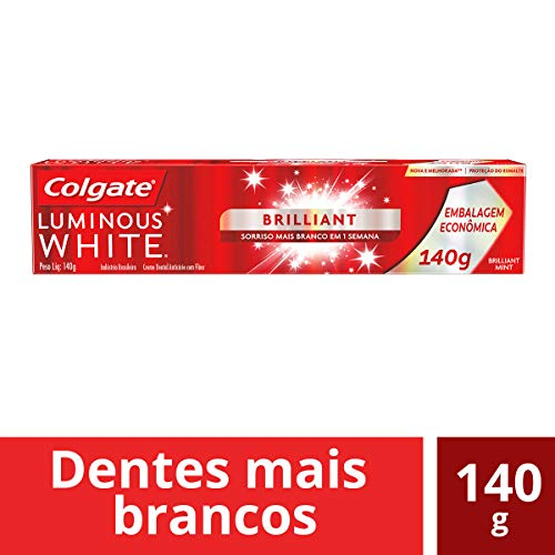 Creme Dental Colgate Luminous White Brilliant Mint 140g