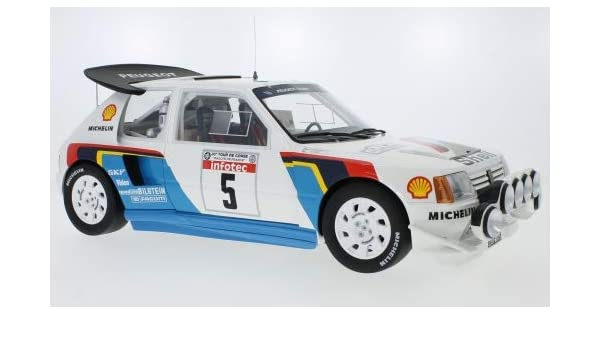 Amazon.com: Peugeot 205 T16 EVO 2, No.5, Talbot Sport, Rallye WM, Rallye Tour de Corse, 1986, Model Car,, Ottomobile 1:12: Ottomobile: Toys & Games