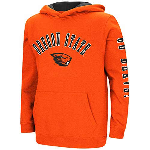 Colosseum NCAA Youth Boys-Crunch Time-Hoody Pullover-Oregon State Beavers-Orange-Youth XL