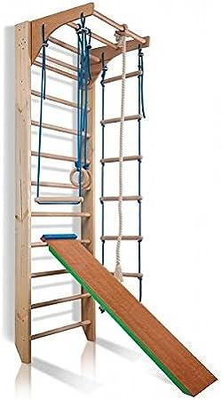 KindSport Espaldera de Fitness Kombi-3-240 - Color Espaldera para Gimnasio Escalera Sueca Niños de Juegos: Amazon.es: Juguetes y juegos