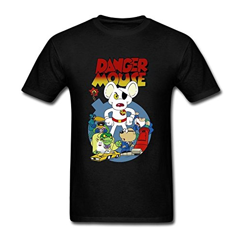 Danger Mouse T-shirt - SUNRAIN Men's Danger Mouse T Shirt