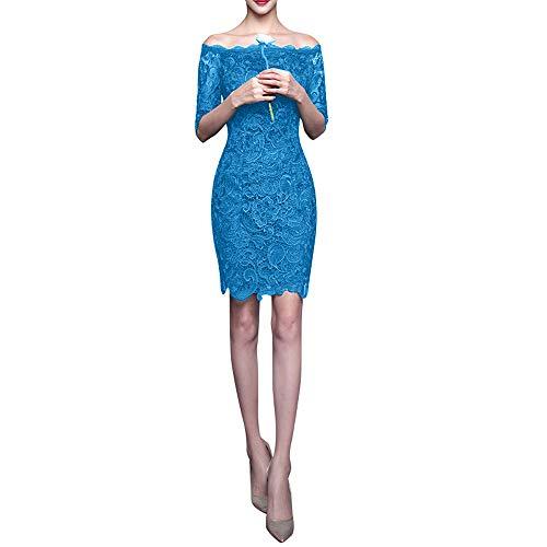 Spitze Langarm Brautjungfernkleider Gruen Knielang Dunkel Cocktailkleider Abendkleider Blau Braut Marie La wpq1IBfp