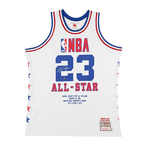 MICHAEL JORDAN '85 ALL STAR PATCH MITCHELL & NESS JERSEY EMBROIDERED ()