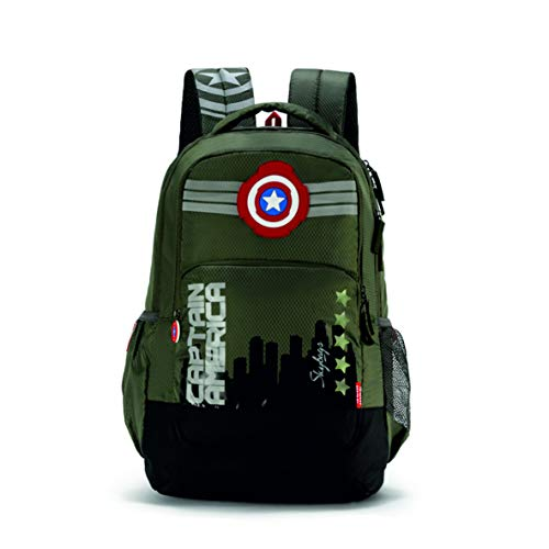 ac0dc4c9ed7 Skybags SB Marvel 07 31 Ltrs Olive Casual Backpack (SBMRV07EOLV)