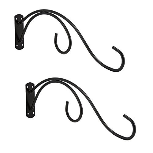 Pennington 2 Pack Double Bird Feeder Wall Hooks All Weather Metal Hangers Patio Deck by Pennington