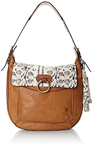 FRYE Esther Ring Hobo Shoulder Bag Tan One Size