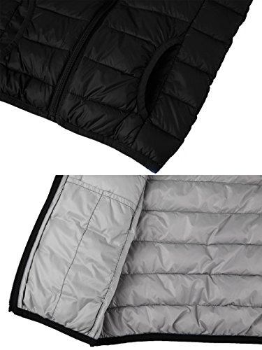 Packable Vest Down Wantdo Sleeveless Boy's Lightweight Jacket Hooded Puffer Black BnxT7Tq5