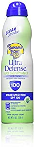 Banana Boat Sunscreen Ultra Defense MAX Skin Protect Ultra Mist Broad Spectrum Sun Care Sunscreen Spray - SPF 100, 6 Ounce