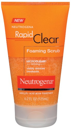 Neutrogena Rapid Clear Foaming Scrub, 4.2 Ounce (Pack of 3)