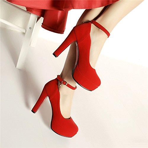 ... super - high - heels (11.5cm). KHSKX-Frühling Ein Wort Schnalle Flachen  Mund Einzigen Schuh Wasserdicht Plattform Gut Bei Fuß 11.5 ...