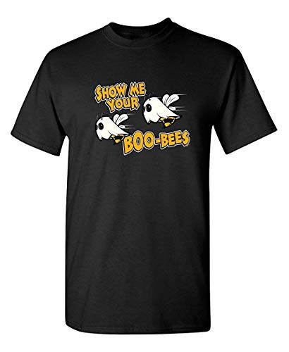 Show Me Your Boo Bees Costume Sarcastic Adult Funny Halloween T Shirt Black ()