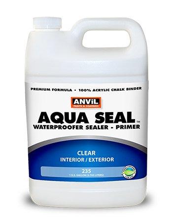Anvil Aqua Seal Waterproofer Bonding Primer Acrylic Clear Penetrating Sealer, 1 Gallon (Pack of (Anvil Block)