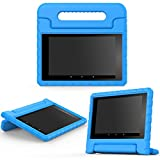 MoKo Case for All-New Amazon Fire HD 8 (2016 6th Generation) - Kids Shock Proof Convertible Handle Light Weight Protective Stand Cover Case for Fire HD 8 Tablet (6th Gen, 2016 release Only), BLUE