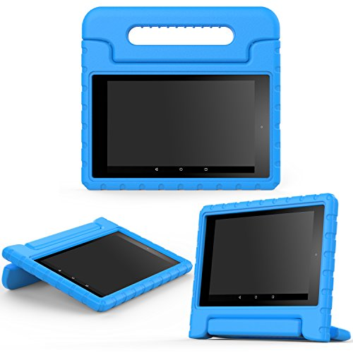 MoKo Case for All-New Amazon Fire HD 8 (2016 6th Generation) - Kids Shock Proof Convertible Handle Light Weight Protective Stand Cover Case for Fire HD 8 Tablet (6th Gen, 2016 release Only), BLUE (Kindle Keyboard Cover Light compare prices)