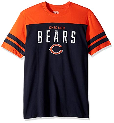 4cae22ea0 NFL Chicago Bears Male NFL OTS Cotton Yoke Stripe Tee