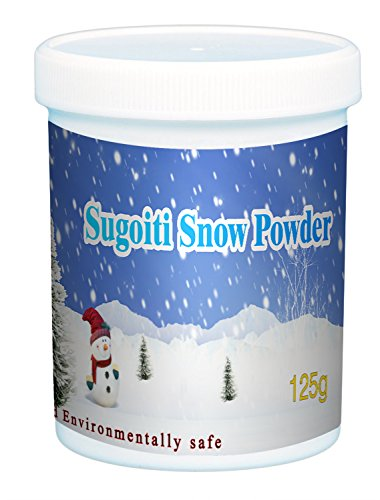 Sugoiti Instant Snow Powder for Slime - Makes 4 Litres of Fluffy White Fake Snow - Looks and Feels Like Real Snow - Great for Cloud Slime, Christmas Decorations and Frozen Birthdays by Sugoiti