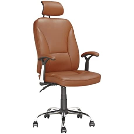 CorLiving LOF 699 O Executive Office Chair Light Brown Leatherette