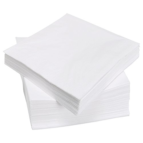 Perfect Stix White Napkins -500ct Beverage Napkins, Paper White, 1-Ply (Pack of 500)