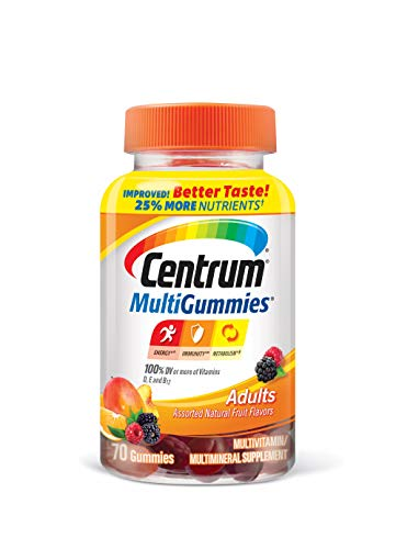 Centrum Adult Multivitamin/Multimineral Gluten-Free Supplement Gummies, 70 Count
