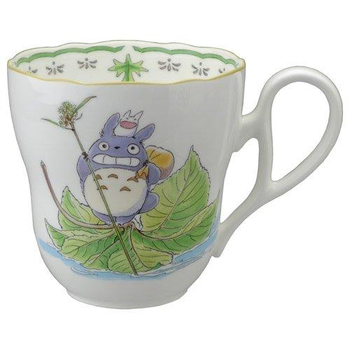 Totoro Smiling on Leaves Mug  Studio Ghibli - Noritake Totoro Smiling on Leaves Mug Noritake Studio Ghibli