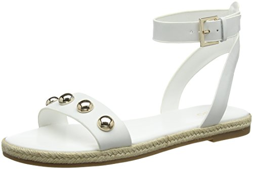 Aldo WoMen Alaeniel Ankle Strap Sandals White (Bright White 70)
