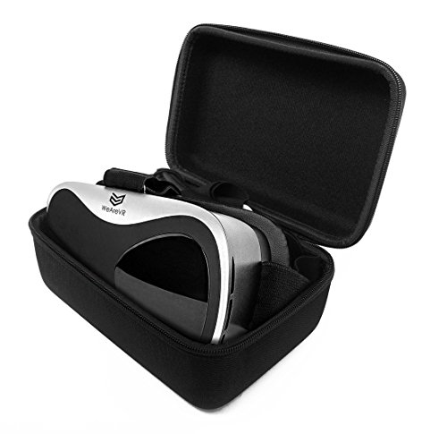 FitSand (TM) Travel Portable Protective Carrying Zipper Hard Case Cover Bag for WEAREVR ET1 - VR 3D Virtual Reality Headset Glasses