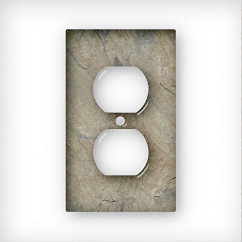 Slate Indian Autumn Light - AC Outlet Decor Wall Plate Cover Metal