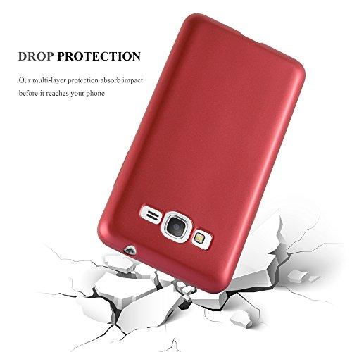 Cadorabo - Cubierta Protectora para Samsung Galaxy GRAND PRIME de Silicona TPU con Efecto Metálico Mate