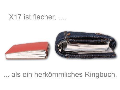 X17 A4 ModeSkin 2er Projektmappe Außendienstmappe rot mit mit mit Notizen  Doppeltasche  Schnellhefter- das einzig wahre RINGBUCH, Organizer, modulares Notizbuch aus Lederfasematerial B01M3S0FY3     | Sorgfältig ausgewählte Materialien  5a25f3