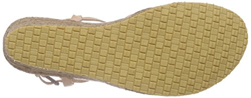 Fred de la Bretoniere Fred sandalet cross straps rope matching upper wegde  Elda - Sandalias Mujer Marrón - Braun (Cuarzo)