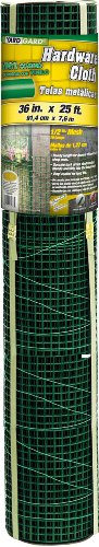 YARDGARD 308259B 36-Inch X 25-Foot Green 1/2-Inch Zinc Coated Mesh Hardware Cloth Mesh Hardware Cloth