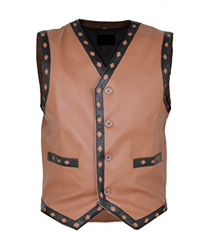 The Warriors Swan Ajax NY gangstar Brown Real Sheep Leather Vest