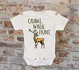 Crawl Walk Hunt Deer Onesie®, Hunting Onesie, Deer Season Onesie, Cute Baby Bodysuit, Hipster Boy, Boho Boy Onesie, Funny Onesie