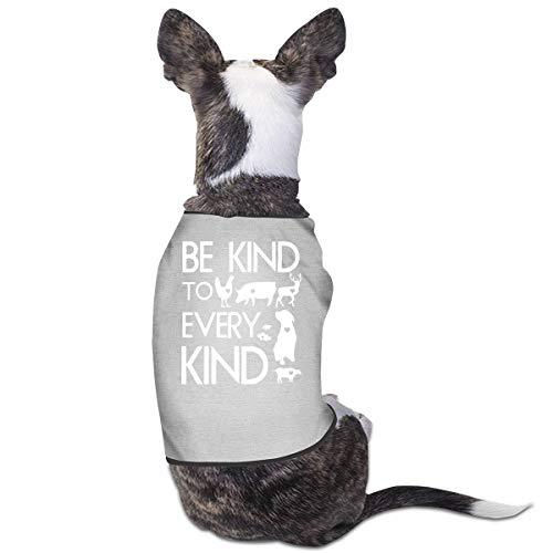 Be Kind to Every Kind Vegan Vegetarian Dog Cat Vest Pet Sleeveless T-Shirt Jacket Sweater ()