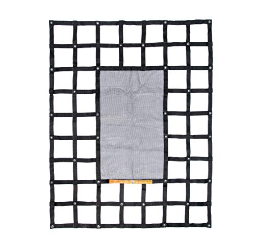 Gladiator Cargo Gear - SafetyWeb Cargo Net - Heavy Duty, Adjustable- Small 4.75